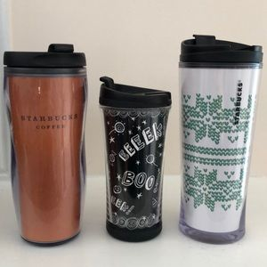 Bundle of 3 Starbucks travel cups